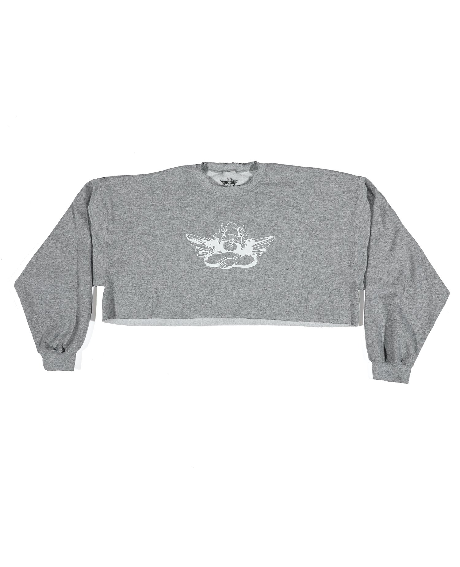 Match Made in Heaven Cropped Crewneck by Boys Lie, available on boyslieofficial.com for $105 Kylie Jenner Top Exact Product