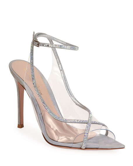 Open-Toe Strass Sandals by Gianvito Rossi, available on neimanmarcus.com Kylie Jenner Shoes Exact Product