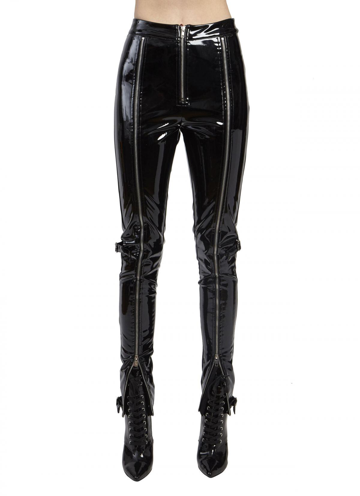 PATENT ZIPPER LEATHER PANTS by Danielle Guizio, available on danielleguiziony.com for $210 Kylie Jenner Pants SIMILAR PRODUCT