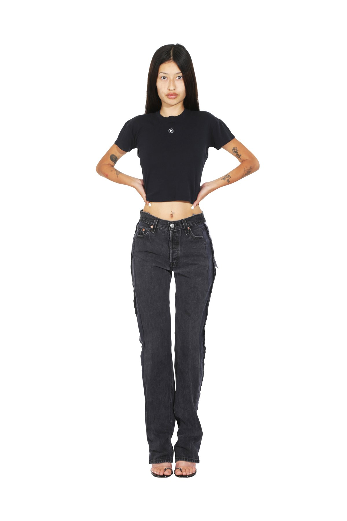 PORTERHOUSE JEANS IN VINTAGE BLACK by Sami Miro Vintage, available on samimirovintage.com for $425 Kylie Jenner Pants Exact Product