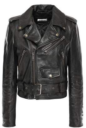 Painted Leather Biker Jacket by Balenciaga, available on shopstyle.com for $2863 Kylie Jenner Outerwear SIMILAR PRODUCT