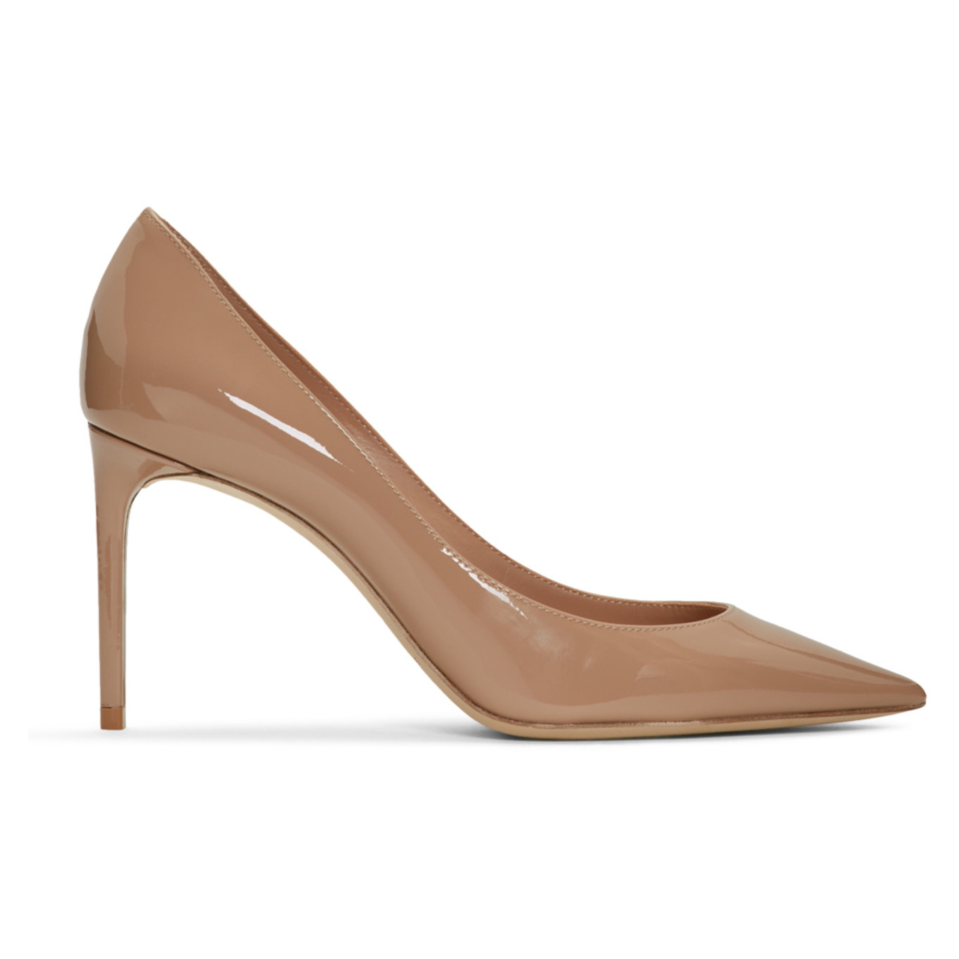 Pink Patent Zoe Pumps by Saint Laurent, available on ssense.com for $625 Kylie Jenner Shoes Exact Product