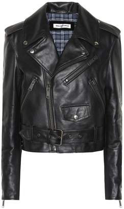 Printed leather biker jacket by Balenciaga, available on shopstyle.com for $2757 Kylie Jenner Outerwear SIMILAR PRODUCT