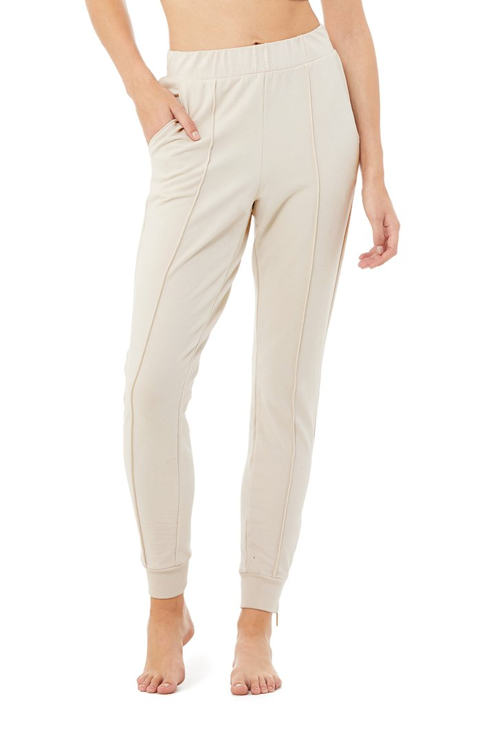 Propel Sweatpant - Bone by Alo Yoga, available on aloyoga.com for $118 Kylie Jenner Pants SIMILAR PRODUCT