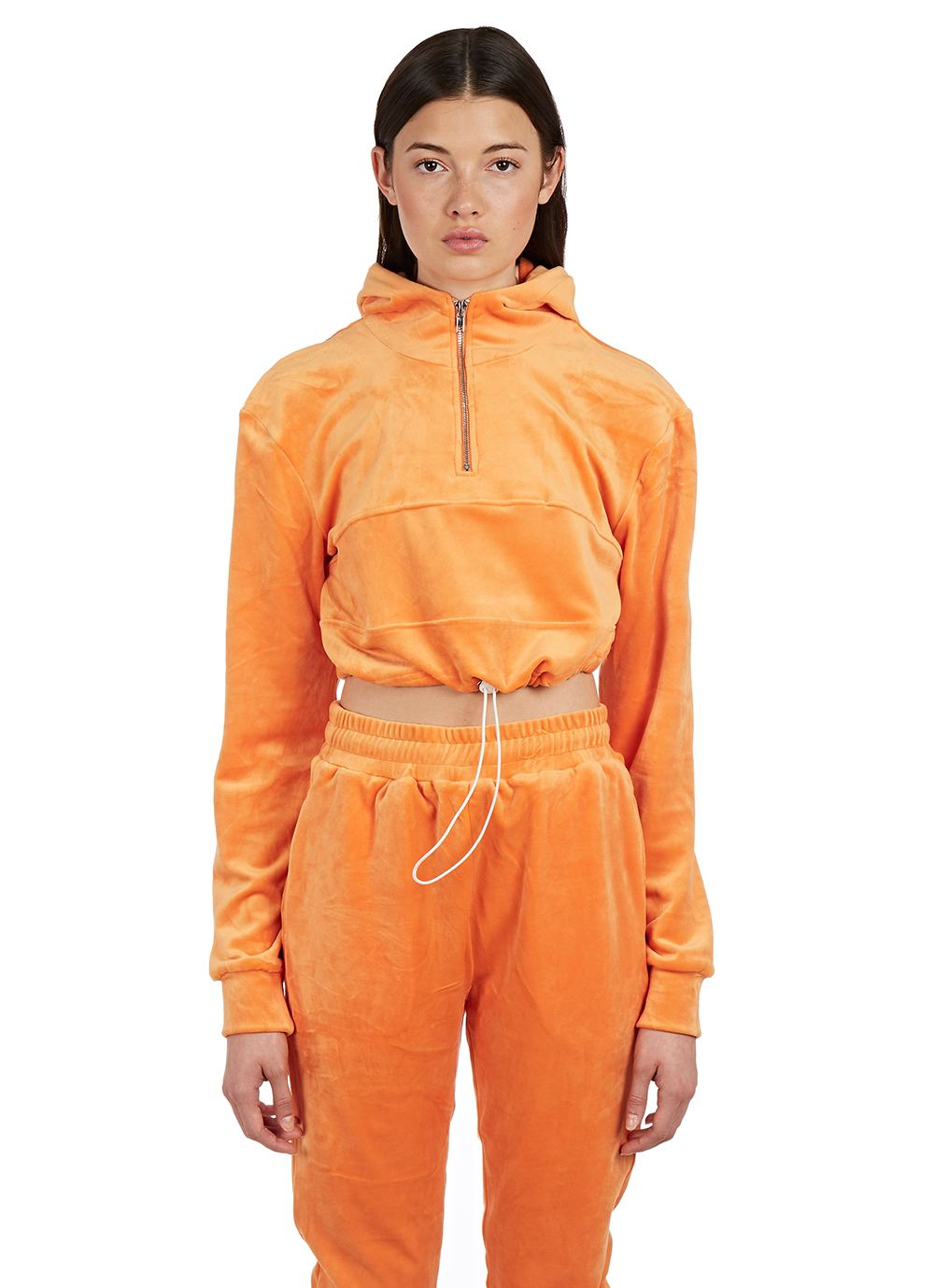 Pt2 Velour Tracksuit in Orange by Danielle Guizio, available on hbx.com for $118 Kylie Jenner Top Exact Product