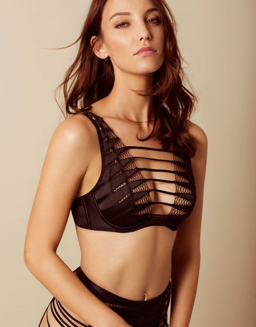 Rayna High Neck Underwired Bra by Agent Provocateur, available on agentprovocateur.com for $285 Kylie Jenner Top Exact Product