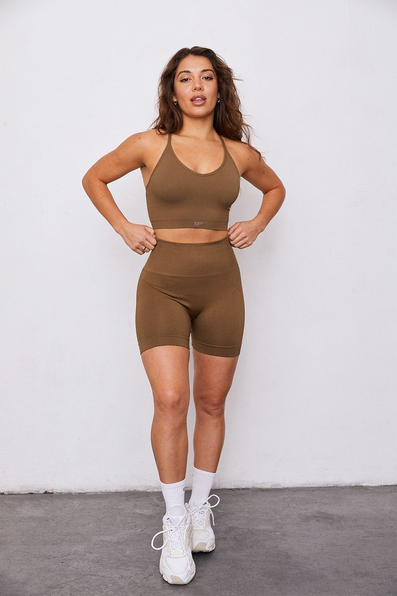 SCULPTFLEX™ BIKE SHORTS by Set Active, available on setactive.co for $52 Kylie Jenner Shorts Exact Product