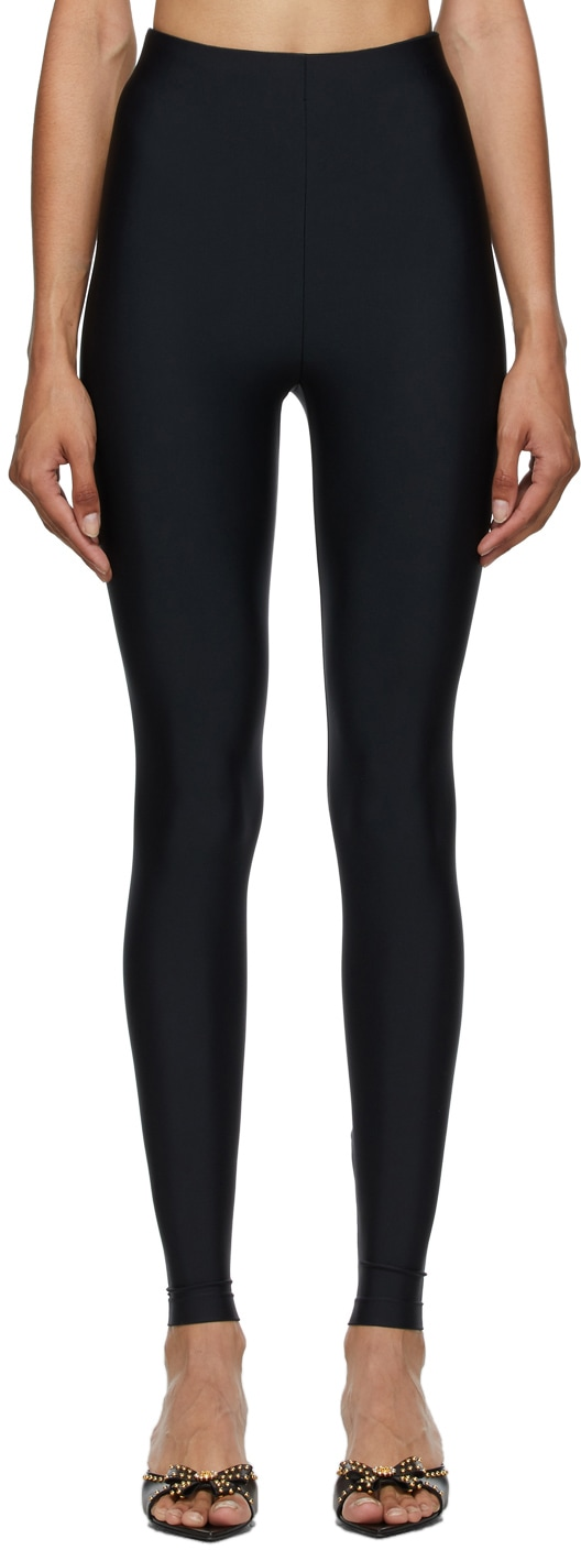 SSENSE Exclusive Black Basic Leggings by VERSACE, available on ssense.com for $295 Kylie Jenner Pants Exact Product