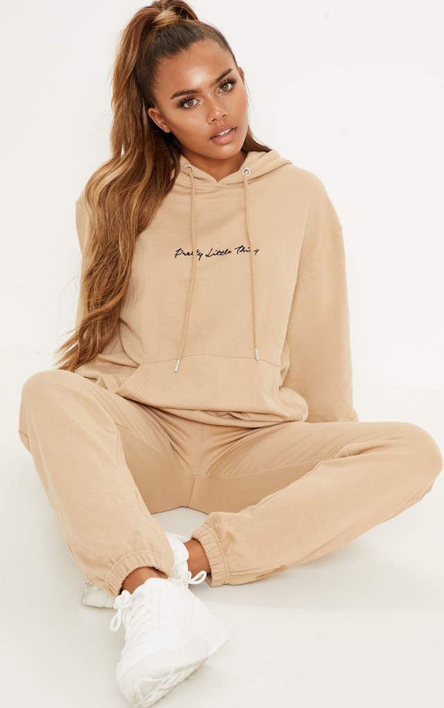 Sand Casual Jogger by Pretty Little Thing, available on prettylittlething.com for $20 Kylie Jenner Pants SIMILAR PRODUCT