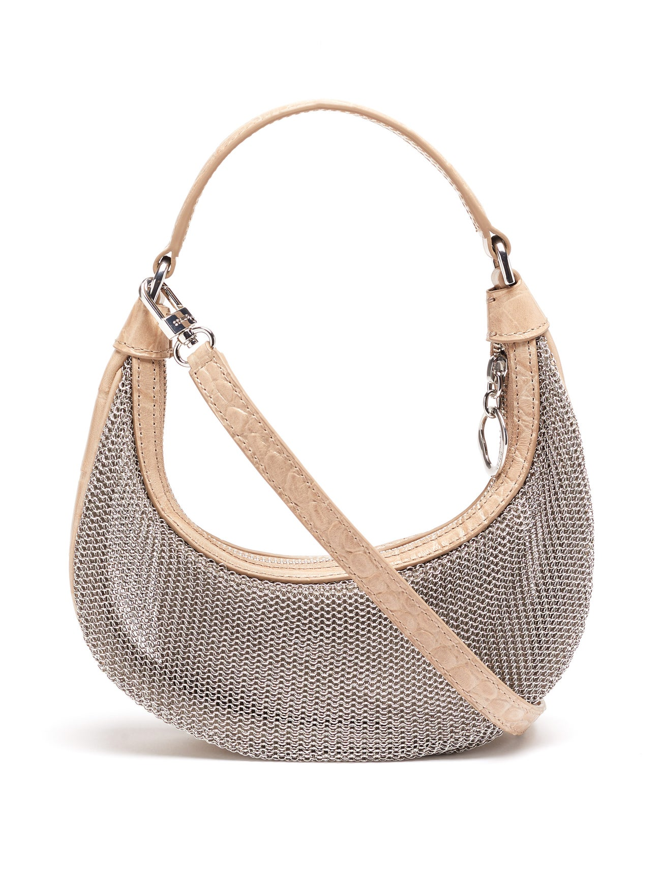Sasha mini chainmail and croc-effect leather bag by Staud, available on matchesfashion.com for $225 Kylie Jenner Bags Exact Product