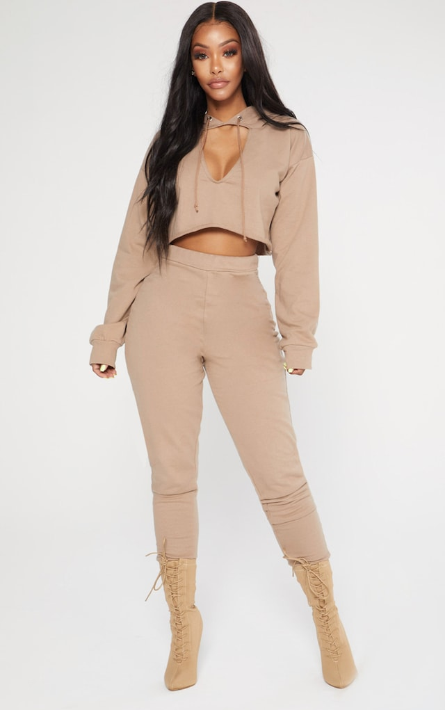 Shape Stone Elastic Bottom Joggers by Pretty Little Thing, available on prettylittlething.com for $20 Kylie Jenner Pants SIMILAR PRODUCT