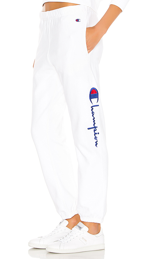 Side Logo Elastic Cuff Pants by Champion, available on revolve.com for $90 Kylie Jenner Pants SIMILAR PRODUCT