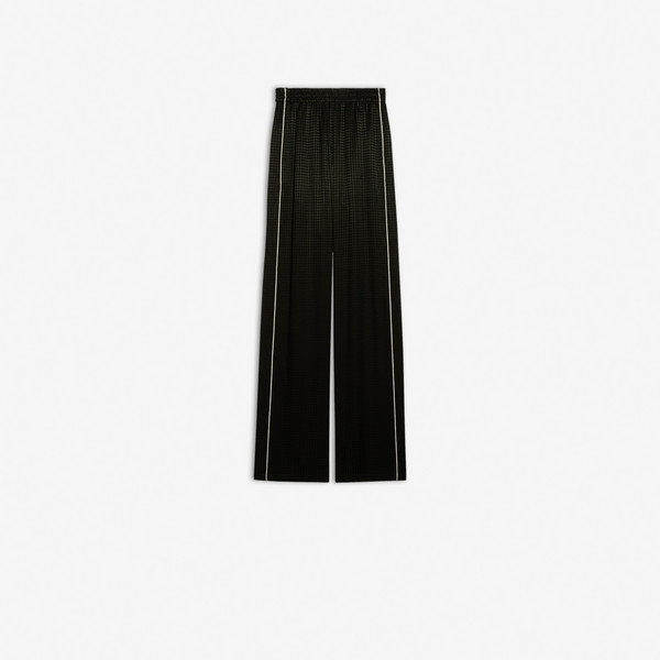 Small Fit Light Tracksuit Pants Black by Balenciaga, available on balenciaga.com for $1090 Kylie Jenner Pants SIMILAR PRODUCT