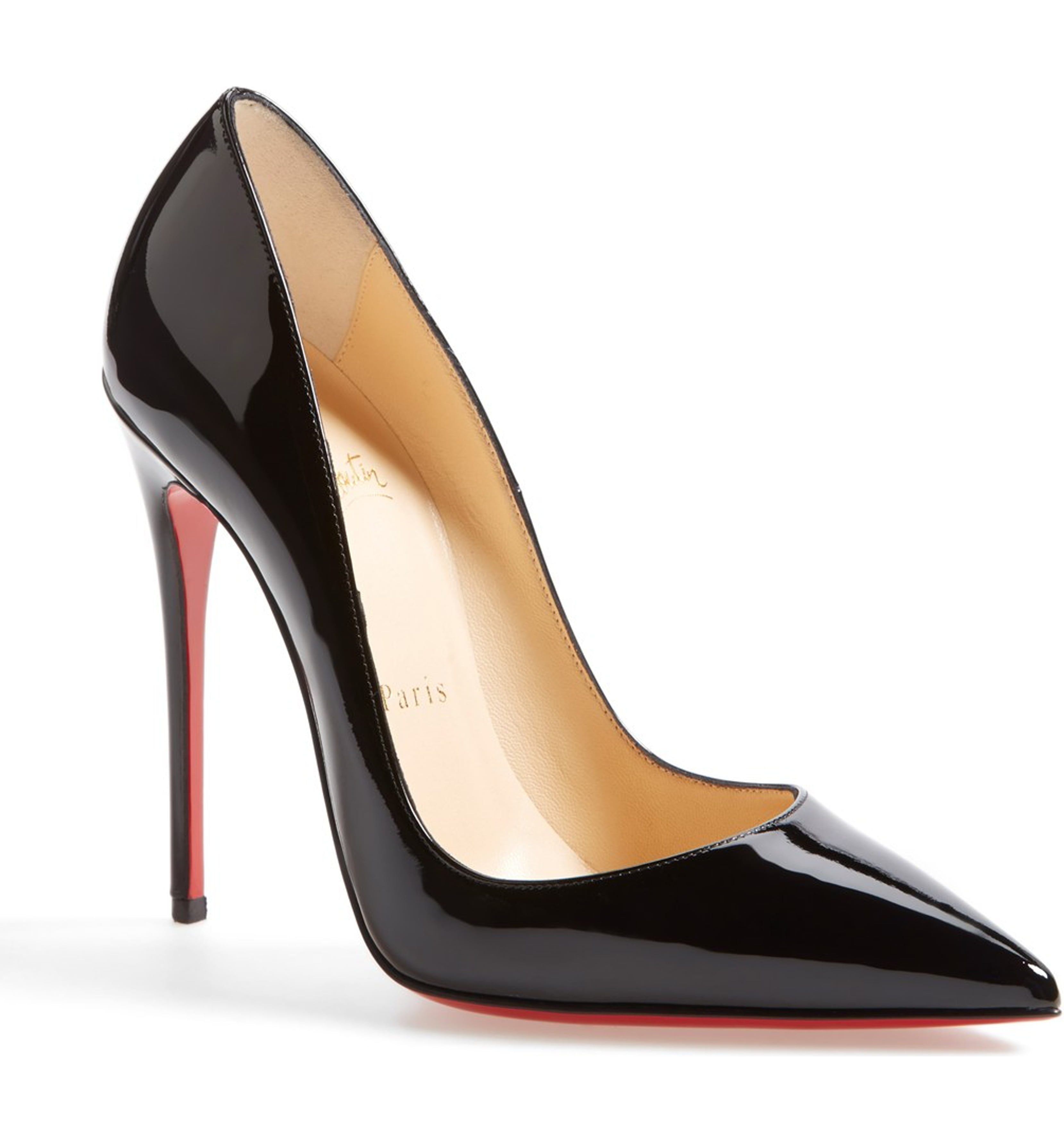 So Kate Pumps in Black Patent by Christian Louboutin, available on nordstrom.com for $725 Kylie Jenner Shoes Exact Product