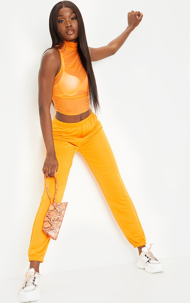 Tall Orange Basic Cuffed Hem Joggers by Pretty Little Thing, available on prettylittlething.com for £10 Kylie Jenner Pants SIMILAR PRODUCT
