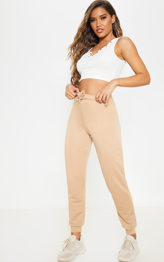 Taupe Ultimate Sweat Jogger by Pretty Little Thing, available on prettylittlething.com for $12 Kylie Jenner Pants SIMILAR PRODUCT
