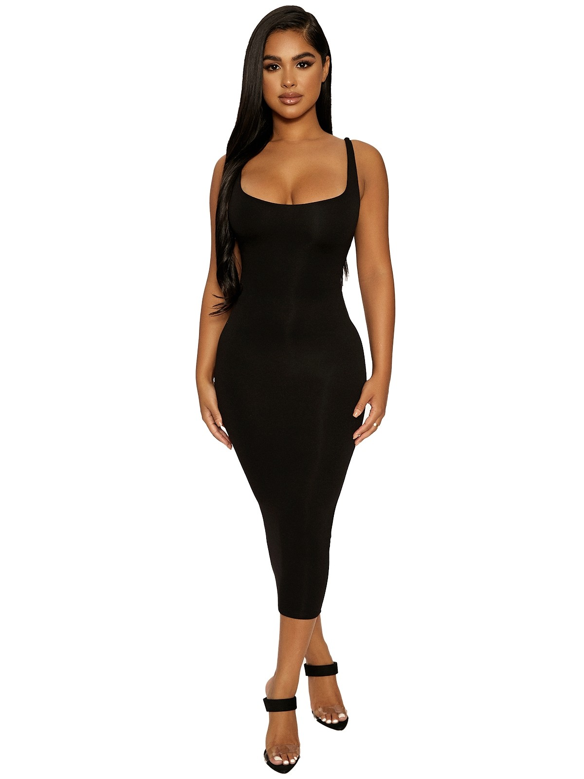 The NW Hourglass Midi Dress by Naked Wardrobe, available on nakedwardrobe.com for $46 Kylie Jenner Dress SIMILAR PRODUCT