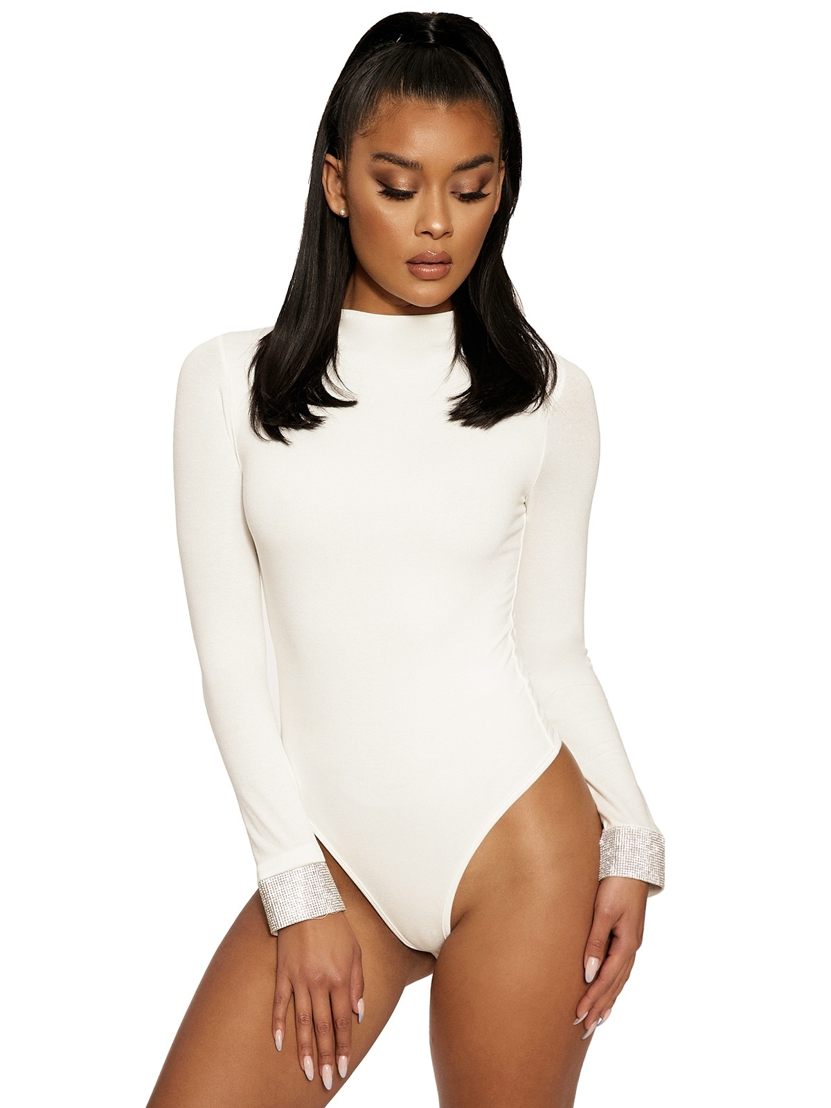 The NW Shine Thru Bodysuit by Naked Wardrobe, available on nakedwardrobe.com for $25 Kylie Jenner Top SIMILAR PRODUCT