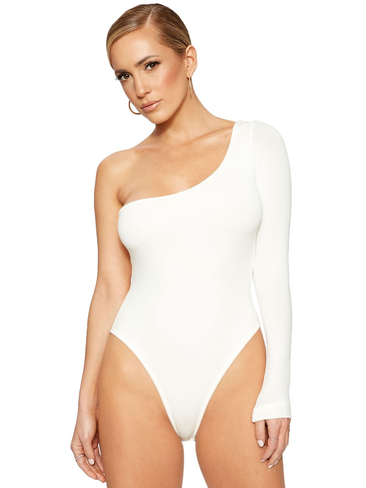 The NW Side Piece Bodysuit by Naked Wardrobe, available on nakedwardrobe.com for $40 Kylie Jenner Top SIMILAR PRODUCT