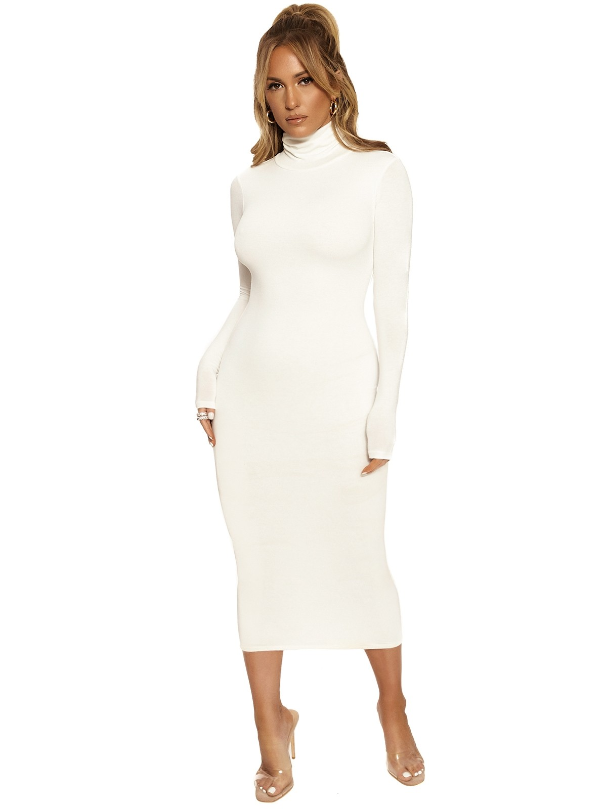The NW Turtleneck Midi Dress by Naked Wardrobe, available on nakedwardrobe.com for $48 Kylie Jenner Dress SIMILAR PRODUCT