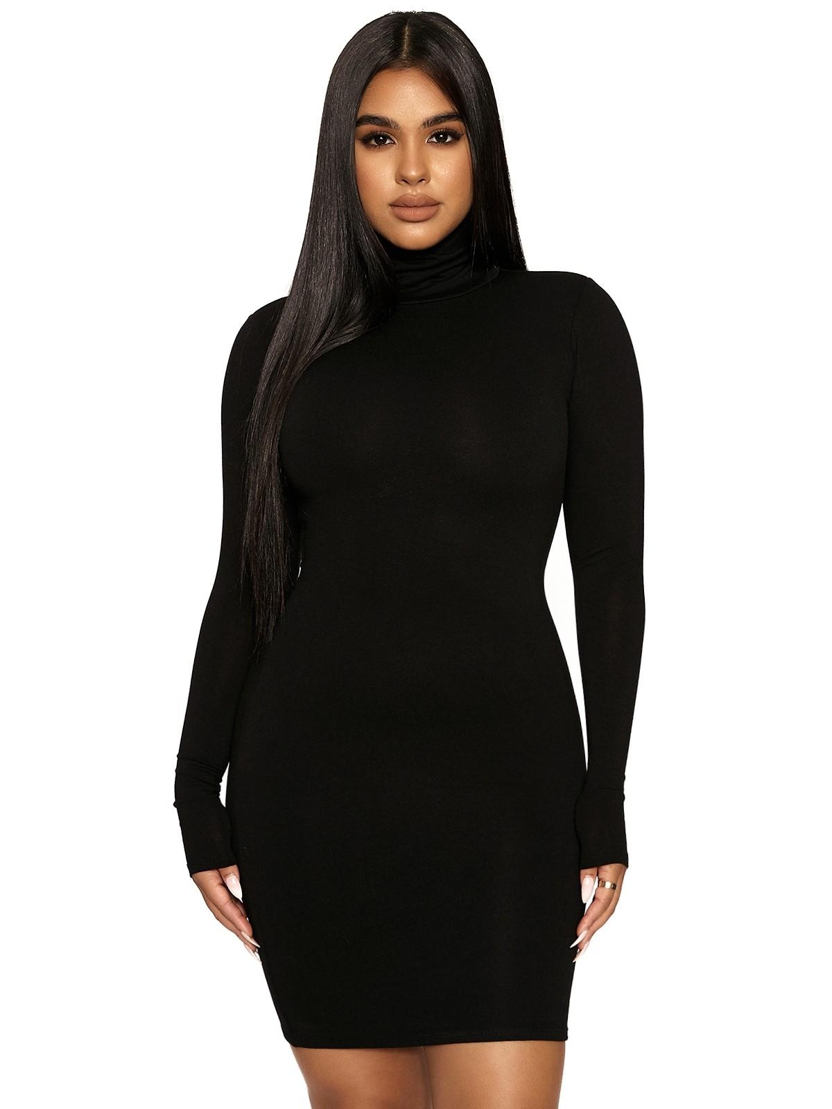The NW Turtleneck Mini Dress by Naked Wardrobe, available on nakedwardrobe.com for $42 Kylie Jenner Dress SIMILAR PRODUCT