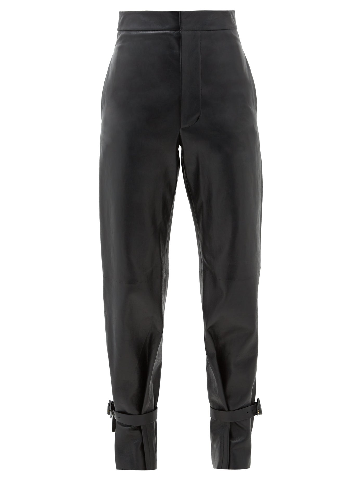 Tied-Cuff Leather Wide-Leg Trousers by Bottega Veneta, available on matchesfashion.com for $2694 Kylie Jenner Pants Exact Product