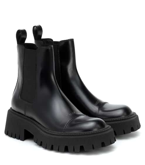 Tractor leather Chelsea boots by Balenciaga, available on mytheresa.com for $740 Kylie Jenner Shoes SIMILAR PRODUCT