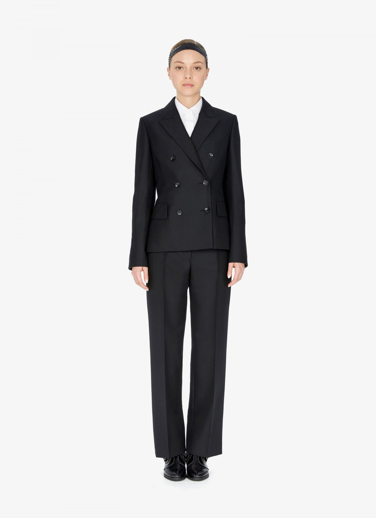 Wool-Blend Double-Breasted Blazer by Alaia, available on maison-alaia.com for $3044 Kylie Jenner Outerwear SIMILAR PRODUCT