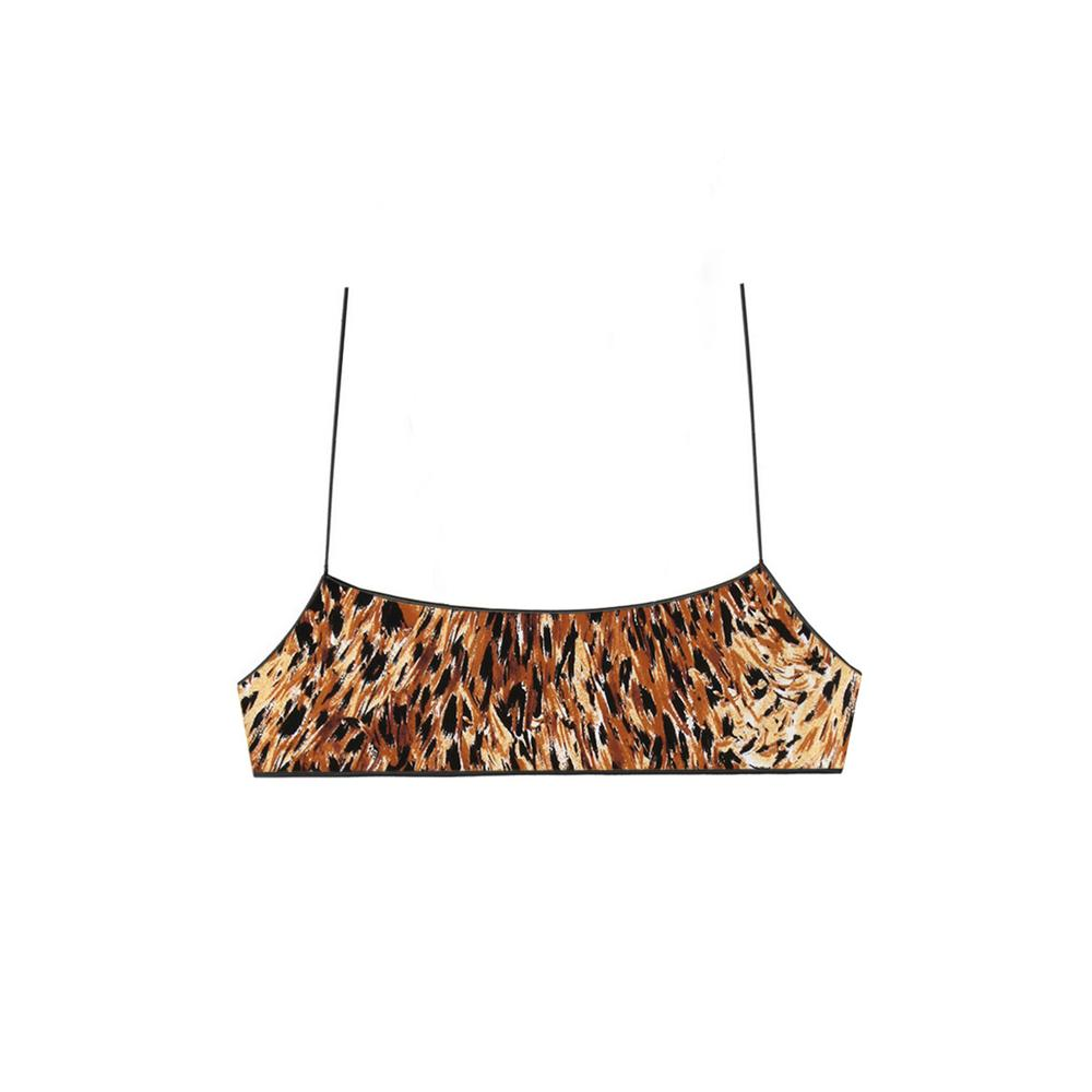 the C bralette in kingston cat by Tropic Of C, available on tropicofc.com for $85 Lais Ribeiro Top Exact Product