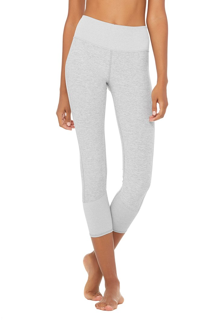 7/8 High-Waist Alosoft Lounge Legging by Alo Yoga, available on aloyoga.com for $88 Natasha Oakley Pants SIMILAR PRODUCT
