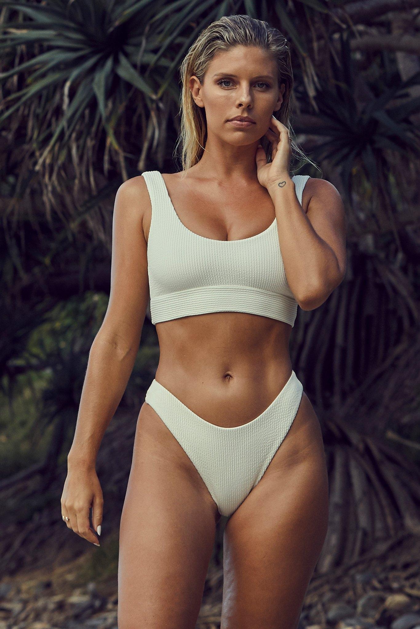 Byron Bottom by Monday Swimwear, available on mondayswimwear.com for $79 Natasha Oakley Shorts Exact Product