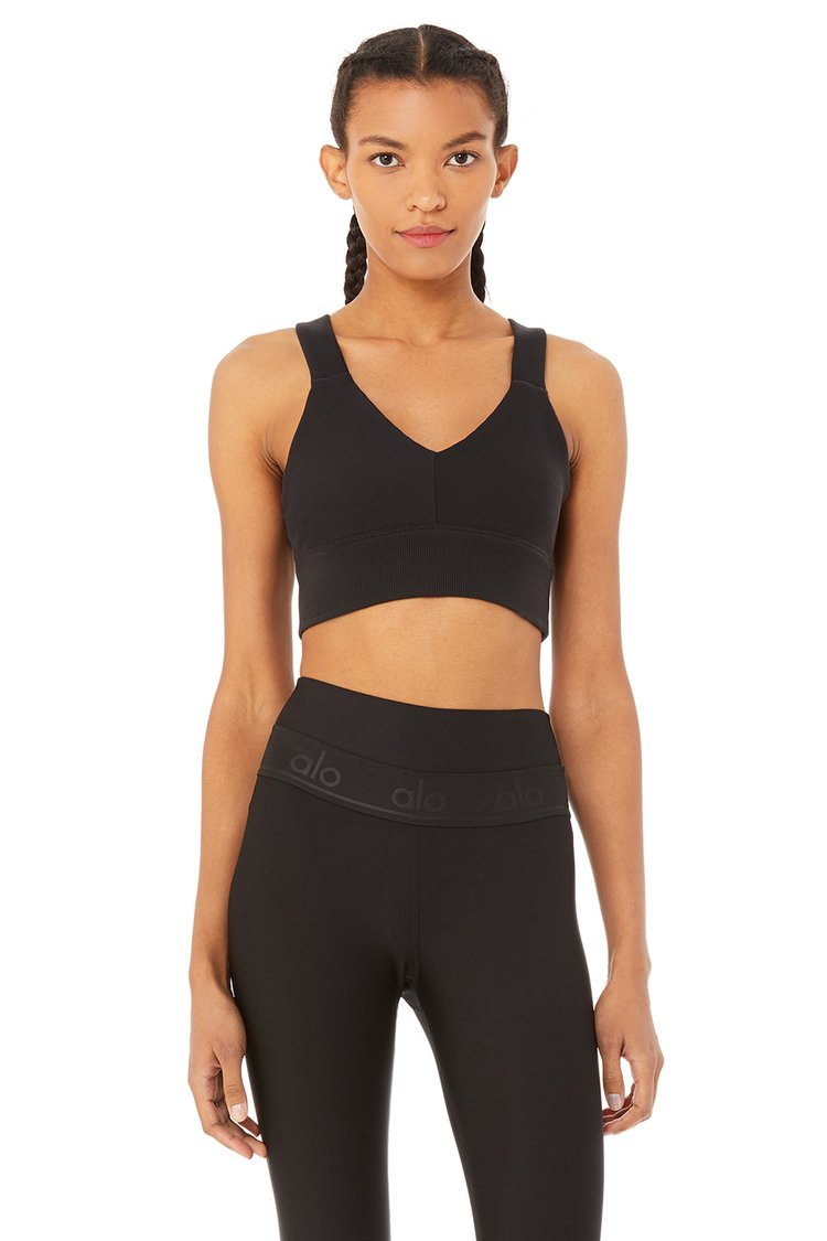 EMULATE BRA by Alo Yoga, available on aloyoga.com for $62 Natasha Oakley Top Exact Product