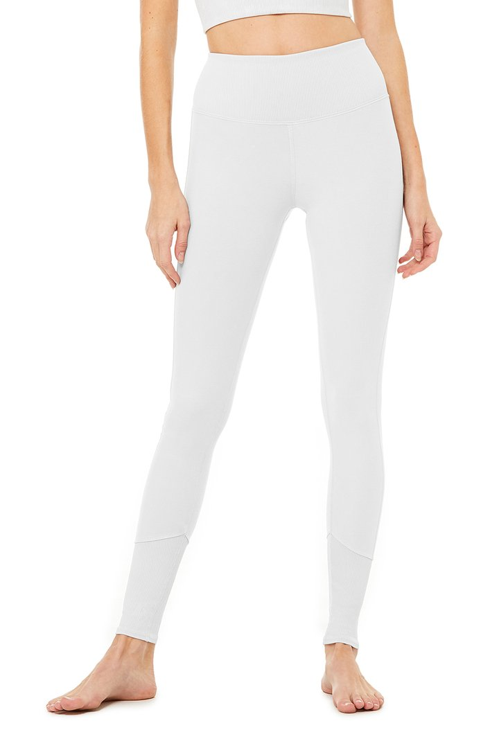 High-Waist Alo Sueded Lounge Legging by Alo Yoga, available on aloyoga.com for $108 Natasha Oakley Pants SIMILAR PRODUCT
