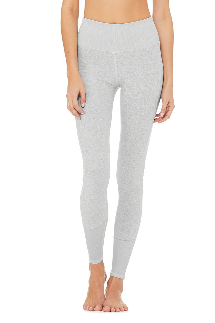 High-Waist Alosoft Lounge Legging by Alo Yoga, available on aloyoga.com for $98 Natasha Oakley Pants SIMILAR PRODUCT
