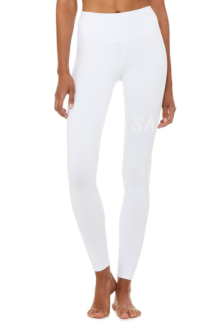 High-Waist Sat Nam Legging by Alo Yoga, available on aloyoga.com for $108 Natasha Oakley Pants SIMILAR PRODUCT