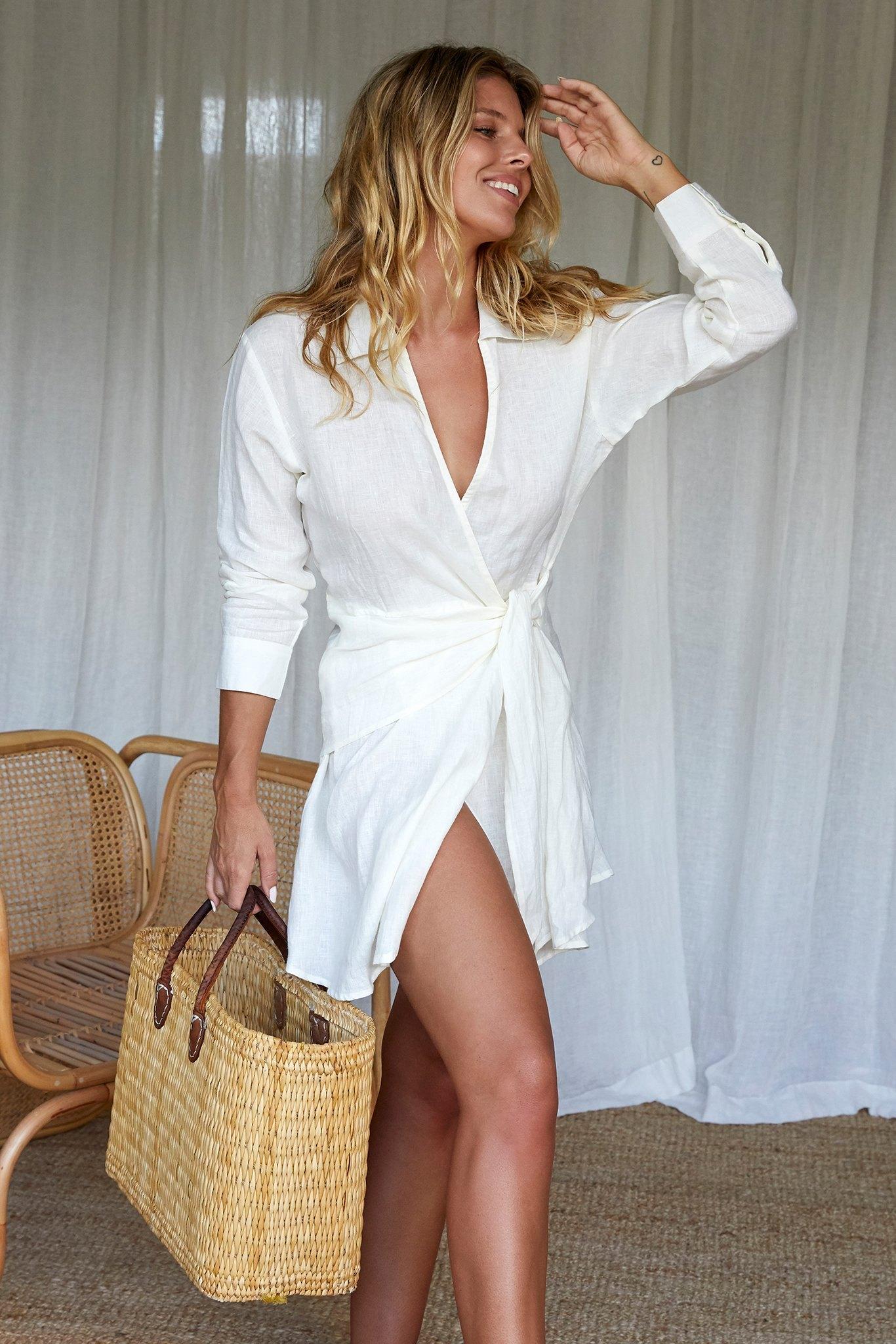 Kythira Dress by Monday Swimwear, available on mondayswimwear.com for $148 Natasha Oakley Dress Exact Product