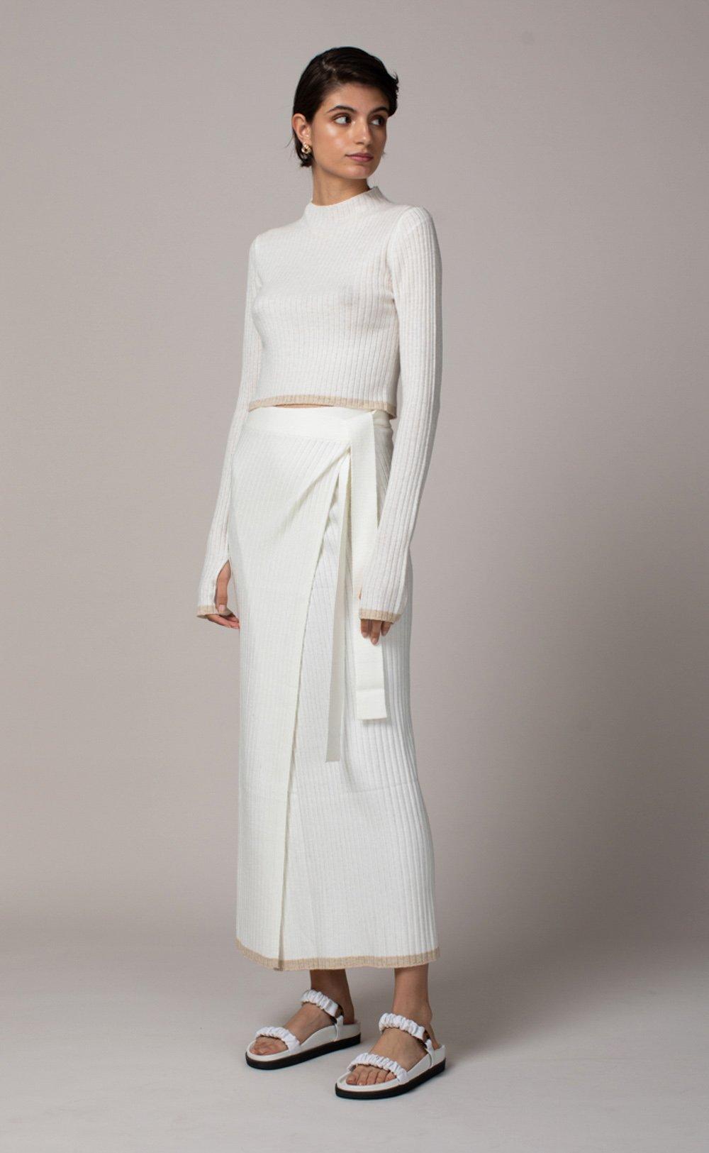 SINCLAIR WRAP SKIRT by Bec and Bridge, available on becandbridge.com.au for $200 Natasha Oakley Skirt Exact Product
