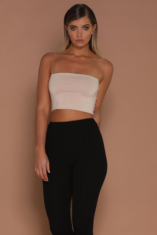 Crop Top - Nude by YVONNE, available on meshki.com.au for AUD31 Nicole Scherzinger Top Exact Product