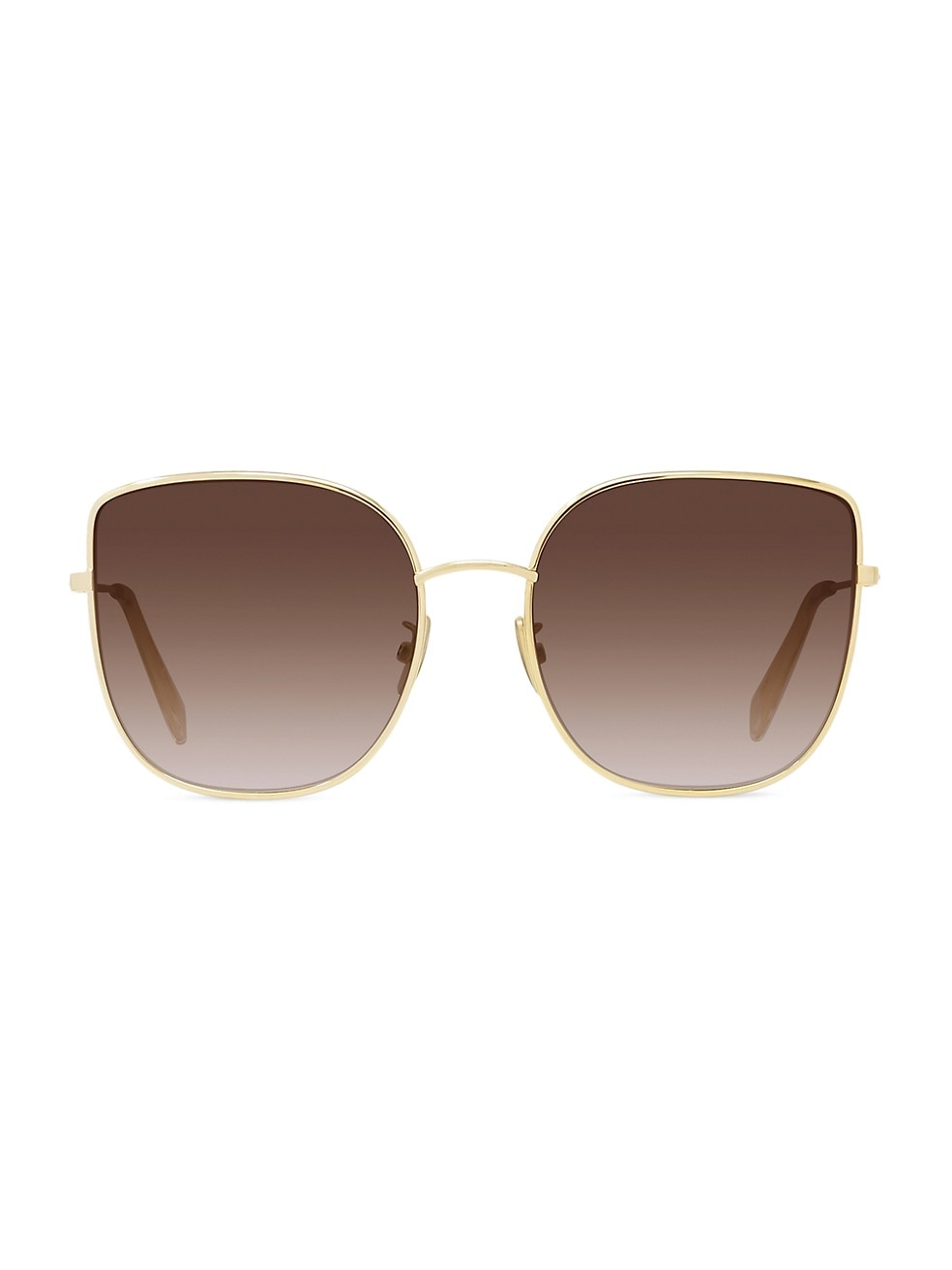 59MM Metal Cat Eye Sunglasses by Celine, available on saksfifthavenue.com for $400 Olivia Culpo Sunglasses Exact Product