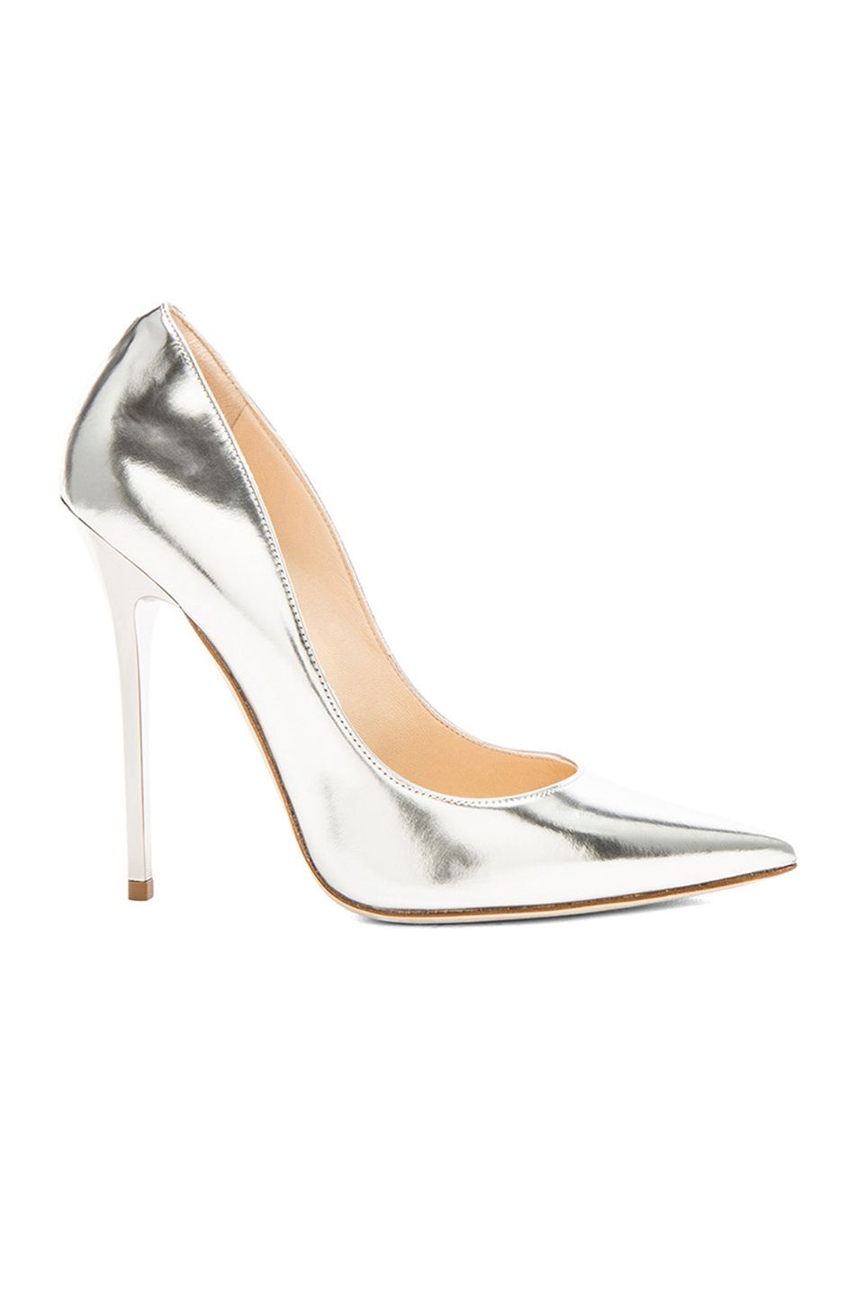 Anouk 120 Mirror Leather Pumps by Jimmy Choo, available on fwrd.com for $508 Olivia Culpo Shoes Exact Product