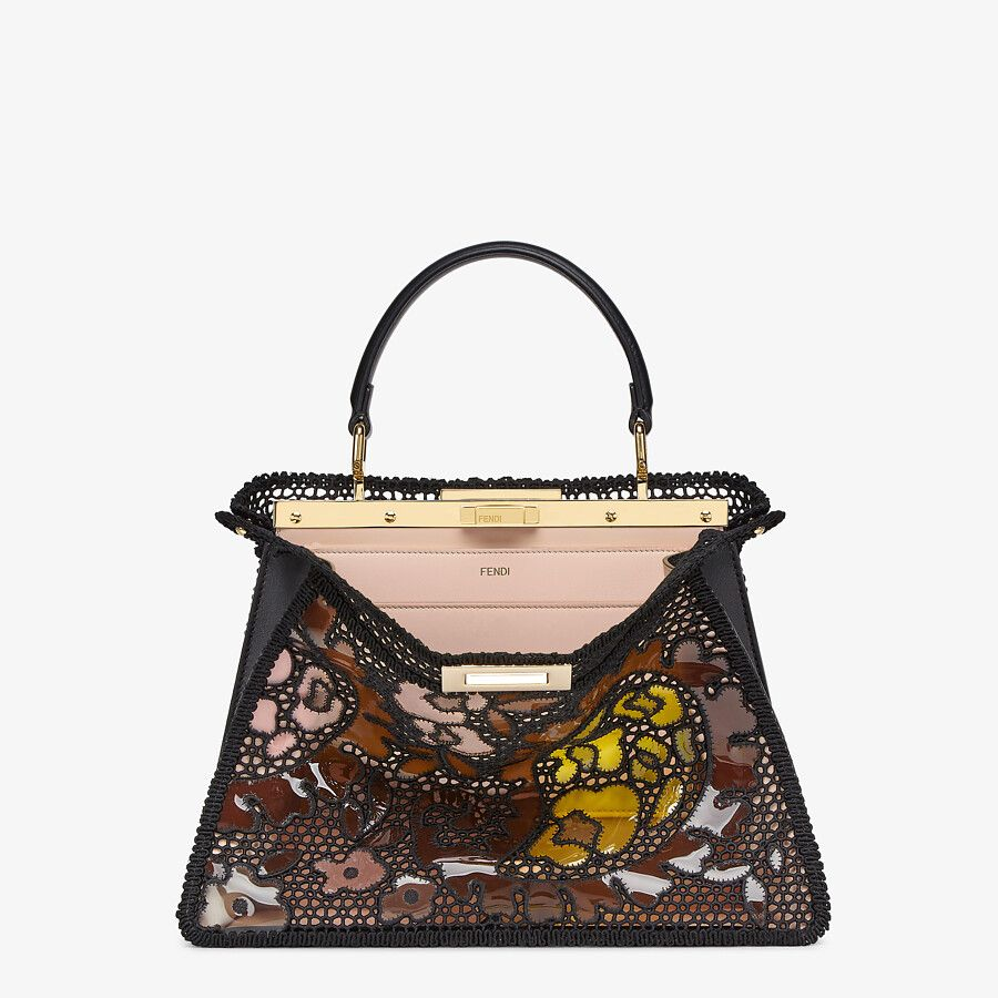 Black lace bag by Fendi, available on fendi.com for $6200 Olivia Culpo Bags Exact Product