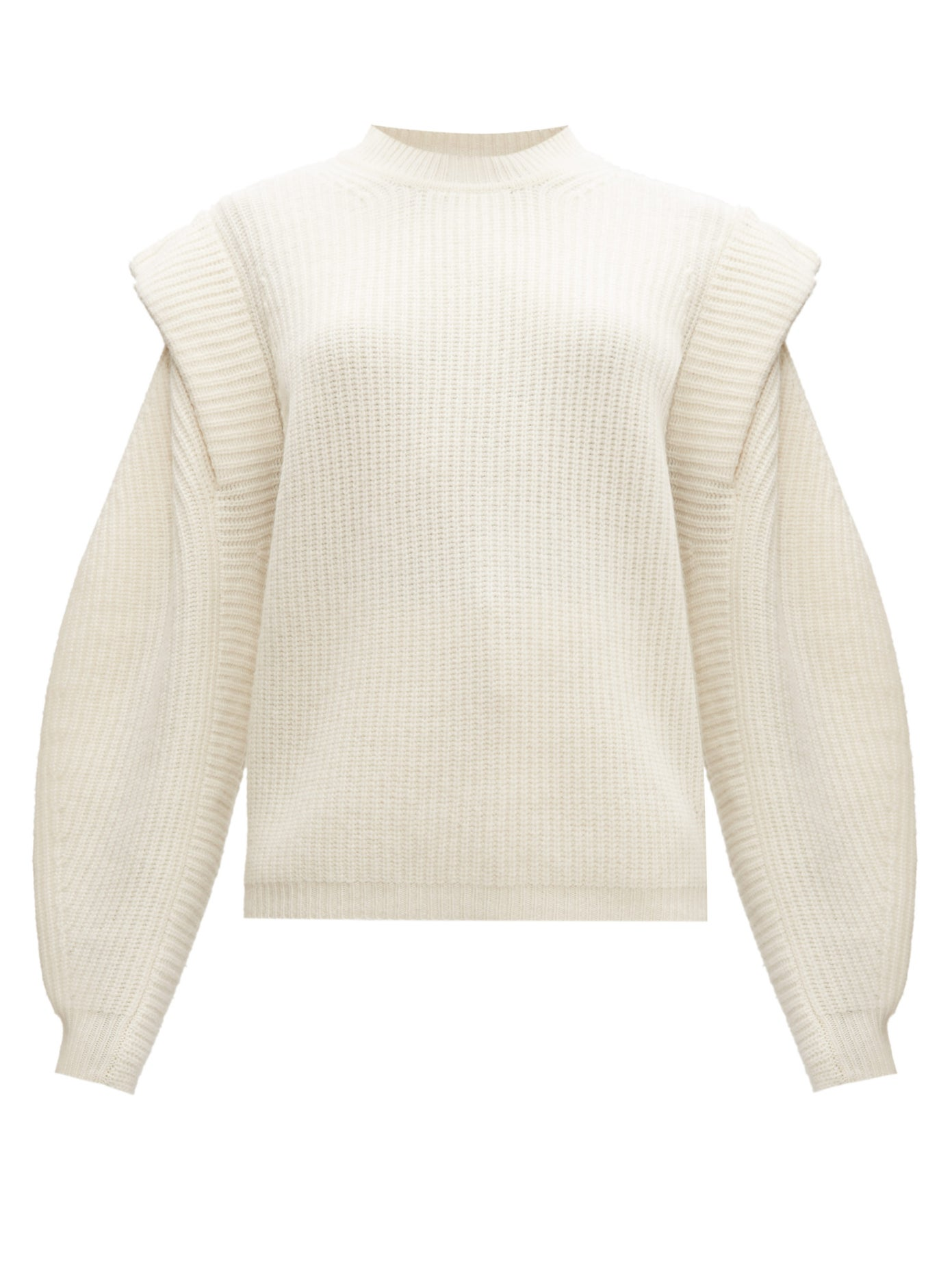 Bolton extended-shoulder wool-blend sweater by ISABEL MARANT, available on matchesfashion.com for $678 Olivia Culpo Top Exact Product