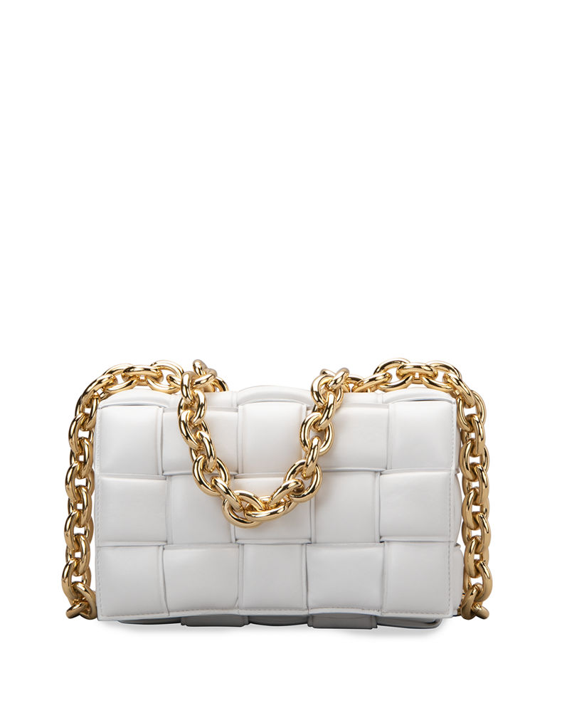 Cassette Chain Shoulder Bag by Bottega Veneta, available on neimanmarcus.com for $3990 Olivia Culpo Bags Exact Product