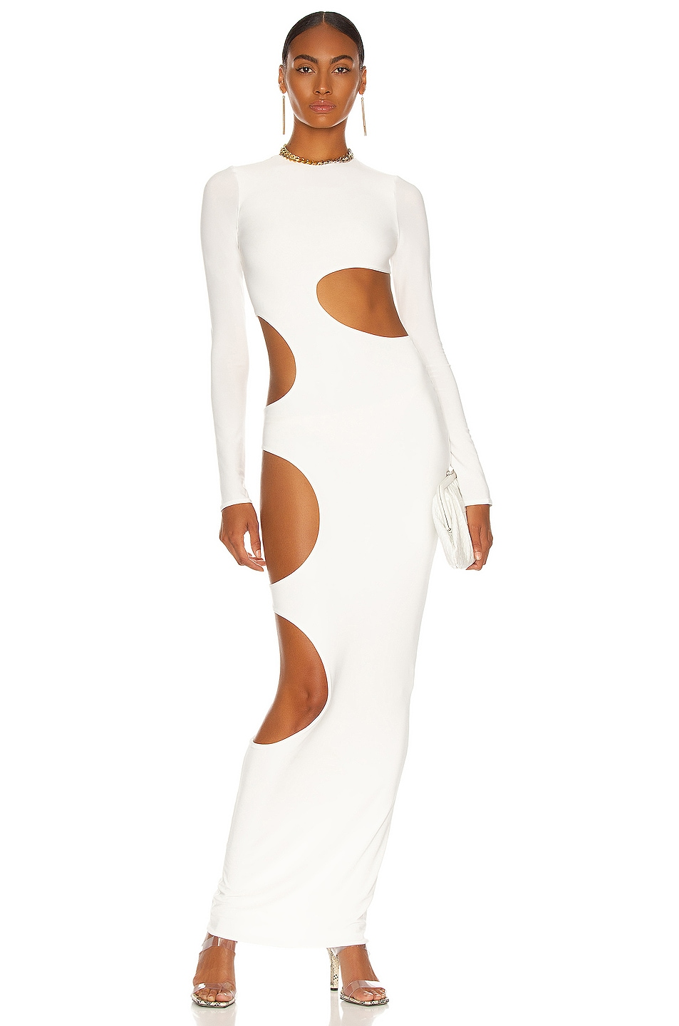 Cutout Slit Gown by LAQUAN SMITH, available on fwrd.com for $1300 Olivia Culpo Dress Exact Product