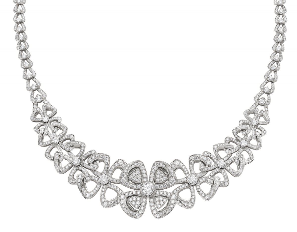 FIOREVER NECKLACE by Bvlgari, available on bulgari.com Olivia Culpo Jewellery Exact Product