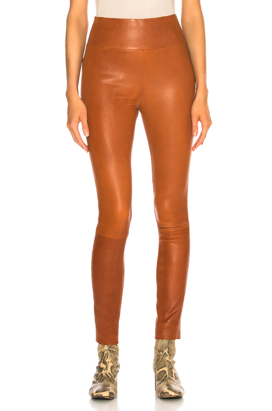 High Waist Ankle Legging by Sprwmn, available on fwrd.com for $925 Olivia Culpo Pants Exact Product