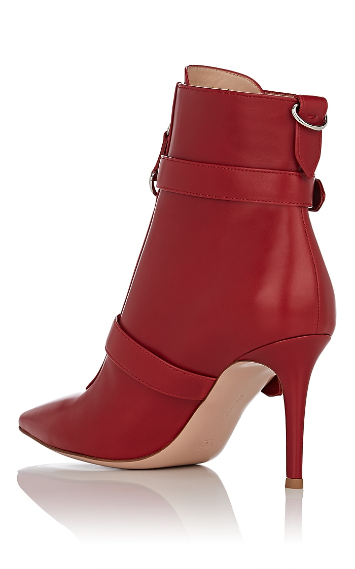 Leather Buckle Ankle Boots by Gianvito Rossi, available on barneys.com for $1595 Olivia Culpo Shoes Exact Product