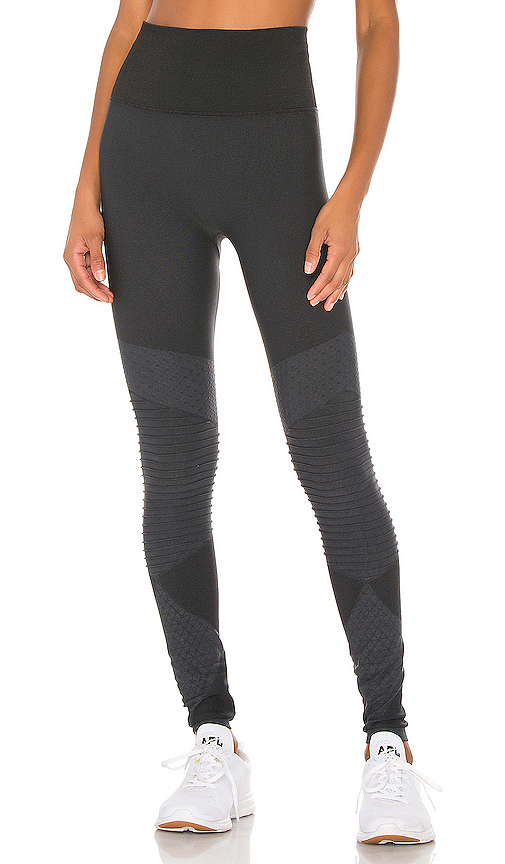 Look at Me Now Seamless Moto Legging by SPANX, available on revolve.com for $88 Olivia Culpo Pants SIMILAR PRODUCT