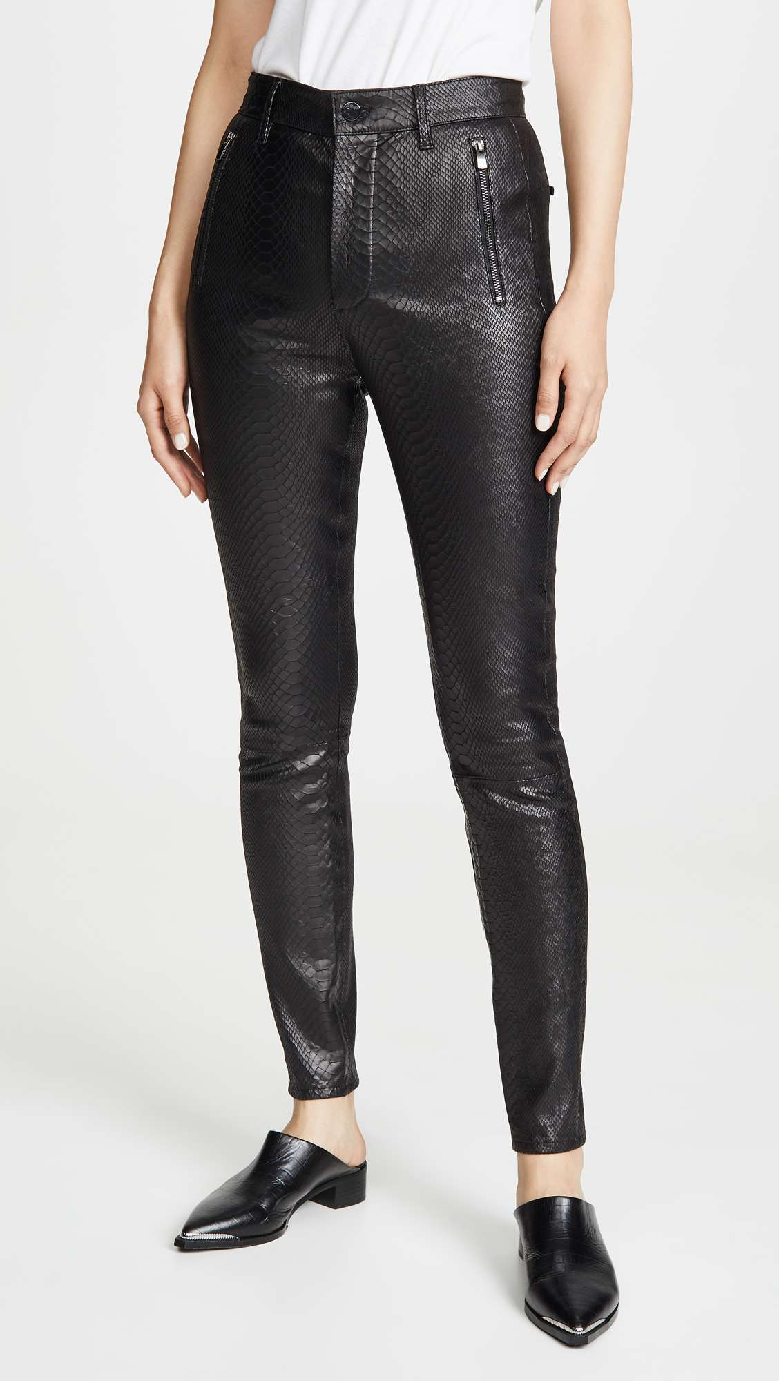 Lora Super High Rise Leather Skinny Pants by J Brand, available on shopbop.com for $768.6 Olivia Culpo Pants Exact Product