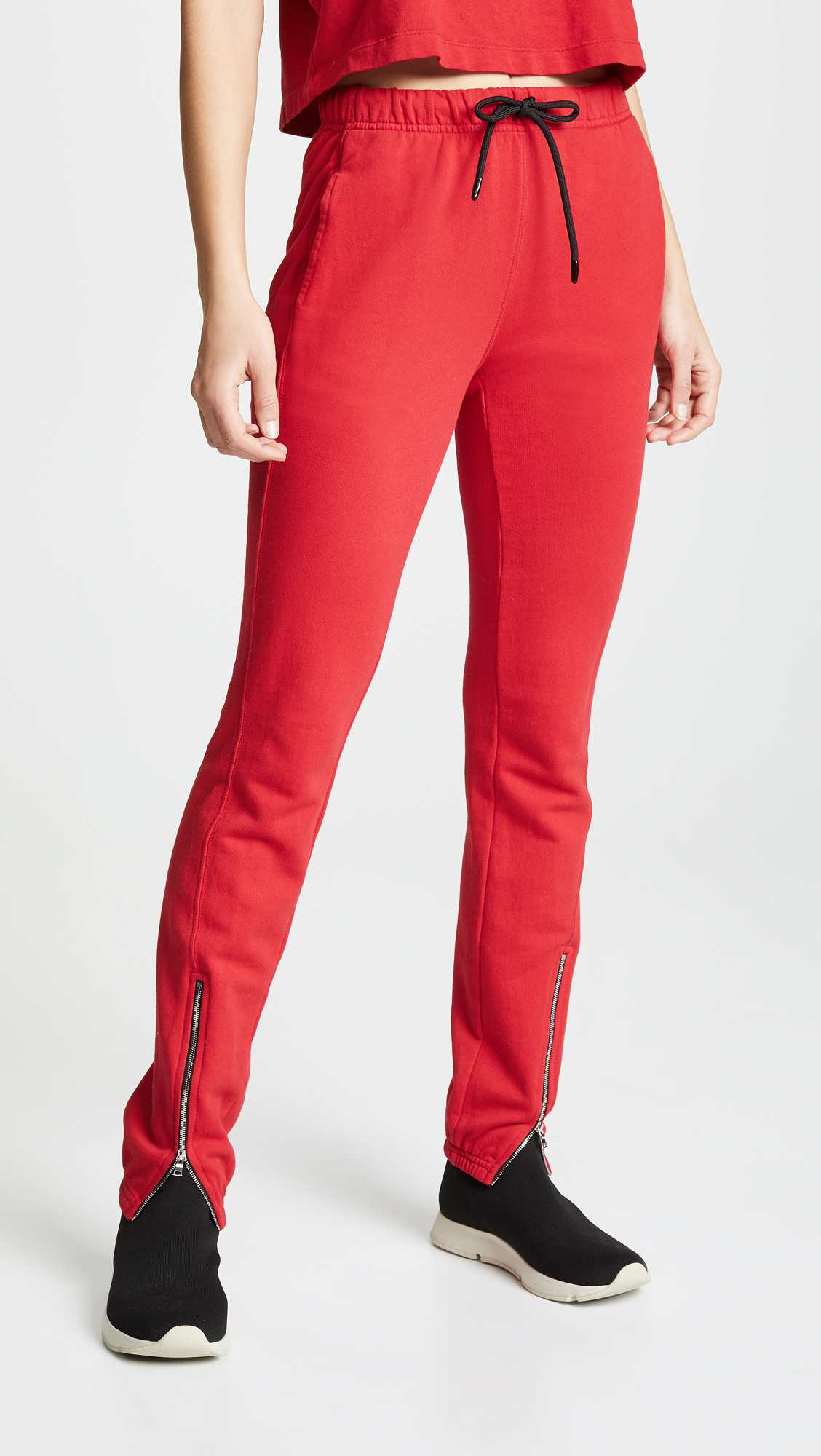 Milan Zip Joggers by Cotton Citizen, available on shopbop.com for $225 Olivia Culpo Pants Exact Product